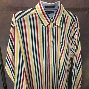 Tommy Hilfiger Striped Casual Button Down Shirt